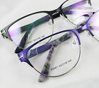 Cat eye Women Eyeglass frames optical metal spring hinges 53-18 black/purple New