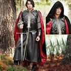 Black Medieval Cape with Hood. Perfect for Re-enactment, Stage, Costume and LARP