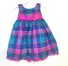 Holiday Editions Toddler Girls Multicolor Plaid Dress Size 6-9 Months NWT