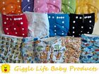 Giggle Life Optimize Cloth Diapers & Insert Lot Fits Babies 7-36 lbs