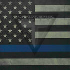 "Kydex Infused Thin Blue Line Flag  Print 11 7/8"" X 7 7/8"" 1 Sheet"