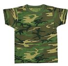 Kids Camouflage SHORT SLEVE BOYS T-Shirt, JUNIOR Woodland Camo  SIZE XS S M L XL