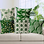 "Forest Green Life 18""x45cm Decor Cotton Linen Cushion cover Pillowcase"