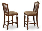"Set of 2 Chelsea Stools , 24"" seat height in Mahogany Finish"