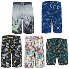 Teens Printed Swimming Shorts Boys Summer Surf Board Beach Bottoms Sizes 10-16 Y
