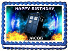 dr who cake topper - DOCTOR WHO / Dr Who Image Edible Cake topper decoration