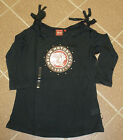 Women's Indian Motorcycle Cutaway 3/4 Sleeve Tee - NWT