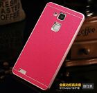 Genuine Leather Back Case + Aluminum Metal Bumper Cover For Huawei Ascend Mate 7