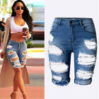 Vogue Women Ladies Denim Shorts Stretch Ripped Hole Denim Jeans Pants Hotpants