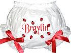 Personalized Diaper Cover Bloomers Black and Red Ladybugs & Red Bows Free Ship