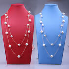 Fashion Women Charm Long Pearl Pendant Necklace Sweater Chain Jewelry Hot