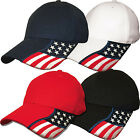 Rockpoint Freedom Stretch Fit Cap Performance Fitted Flag Hat Red White Blue