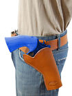 """NEW Barsony Saddle Tan Leather Cross Draw Gun Holster for Ruger 4"""" Revolvers"""