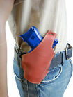 New Barsony Burgundy Leather Pancake Gun Holster for Glock Compact 9mm 40 45
