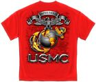 New US Marine Corp Graphic Tee Semper Fidelis Red MM118 M-XXL