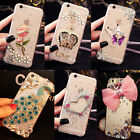 3D Handmade Luxury Bling Diamonds Rhinestone Crystal Hard Clear Phone Case Cover