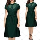 Ladies New Lace Wiggle Dress Vintage Cocktail Party Casual Outdoor Wear Dresses