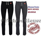 Girls Black Grey School Trousers Miss Chief Sizes 4 6 8 10 12 14 16 Six Button