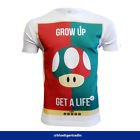 Men's Nintendo Inspired Mario Grow Up Retro Gaming Inspired Fit/Classic T-shirt