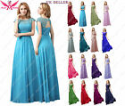 AngelFashion M03 Long Maxi Evening Bridesmaid Formal Party Prom Dress UK 8-24