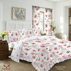Duvet Cover with Pillow Case Quilt Cover Bedding Set with FRILLED EDGE VINTAGE
