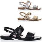 Womens Buckle Flat Strappy Sandals Sz 5-10