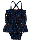 NWT BABY GAP Americana Navy Red White Blue Star Peplum Ruffle One Piece Swimsuit