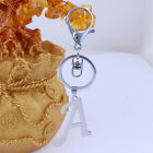 1X Stainless Steel English Letters Cell Phone Car Pendant Handbag Key Chain Ring