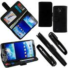 For Samsung Galaxy Mega 6.3 Leather Wallet Case Folding Hard Skin Cover i9200