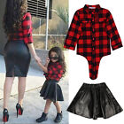 Toddler Baby Girls Long Sleeve T-shirt Tops+Skirt Dress Set 2pcs Clothes Outfit