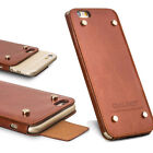 Qialino Genuine Leather Protective Case Cover with Rivets For iPhone 6 6S Plus