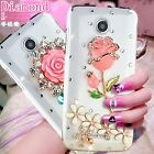 3D Hand made Luxury Bling Diamonds Rhinestone Jewelled Crystal Clear Cover Case