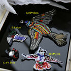 3-15pcs birds beads Rhinestones sequins clothes brooch appliques patches 3584