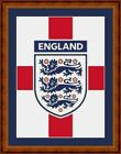 ENGLAND CREST -14 COUNT CROSS STITCH CHART PDF/PRINTED  FREE PP WORLDWIDE