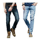 Fashion Mens  Premium soft Denim Straight Slim Fit Casual Jeans Trousers Pants