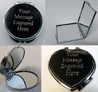 Engraved Compact Mirror Wedding Birthday Teacher Mother's Day  Make up gift her