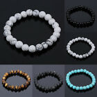 Natural Stone Beads Bracelets Men Women Tiger Eye/Turquoise Casual Jewelry Gifts