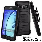 For Samsung Galaxy On5 Ultra Rugged Hybrid Kickstand Belt Clip Holster Hard Case