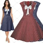 Womens Retro 50's Rockabilly Cockail Evening Party Swing Skater Skirts Size 3XL