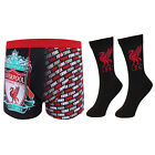Liverpool Football Club Official Soccer Gift Mens Liver Socks & Boxer Shorts