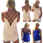 Pop Women Summer Vest Top Sleeveless Blouse Casual Tank Tops T Shirt Clubwear