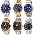 NEW in Box Mens Watches Invicta Gold Stainless Steel Swiss Watch Blue Black Dial