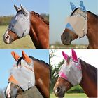 CASHEL CRUSADER Horse Fly Mask WITH EARS ALL SIZES COLORS Gray Blue Pink Orange