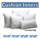30/36/40/46/50/60cm SCATTER CUSHION PADS/INNERS NON-ALLERGENIC FIBRE FILLED