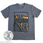 Junk Food Keith Haring T-shirt Men GOLD FOIL PRINT Tri-Blend Soft Fabric DOG NEW
