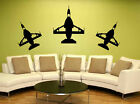 Vinyl Wall Art Removable Decal Sticker F/A 18 US Air Force Fighter Jet Formation