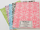 Printed DAMASK Cardstock PICK YOUR COLOR 25 sheets QUALITY Scrap Card making