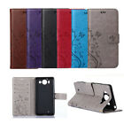 Floral Printing Leather Wallet Case Cover Stand For Microsoft Nokia Lumia Phones
