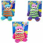 "KIDS CHILDRENS 9"" SOFT PLUSH WORRY MONSTER TEDDY EATS WORRY NOTES FEED IT"