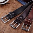 Fashion Men's Casual Wide Soft Leather Belt Strap Metal Pin Buckle Waistband #JP